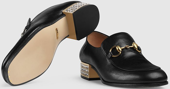 Gucci's soles are made of authentic luxurious leather