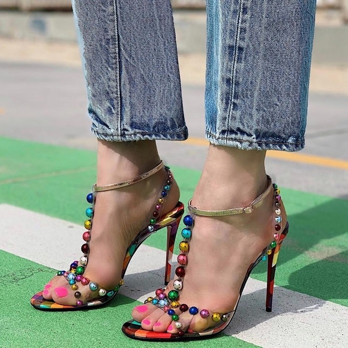 Christian Louboutin manifests strong statement style by presenting the Faridaravie 100 sandals