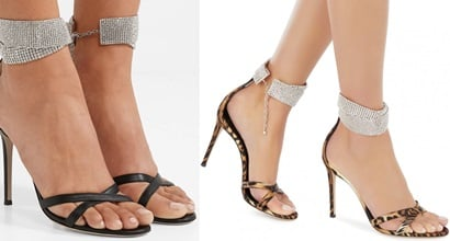 6417bf83df1 Sleek Janell Sandals With Diamond Ankle Strap by Giuseppe Zanotti