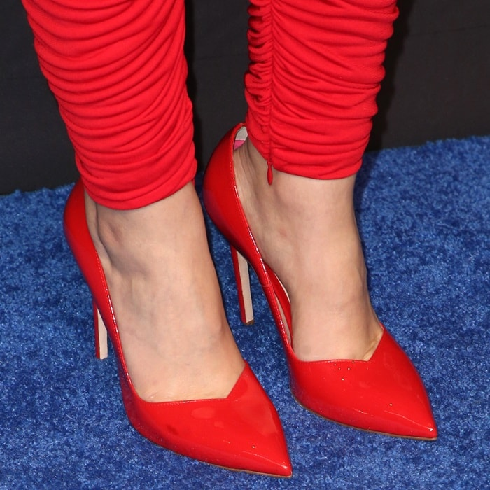 Ginnifer Goodwin's red pointy-toe pumps