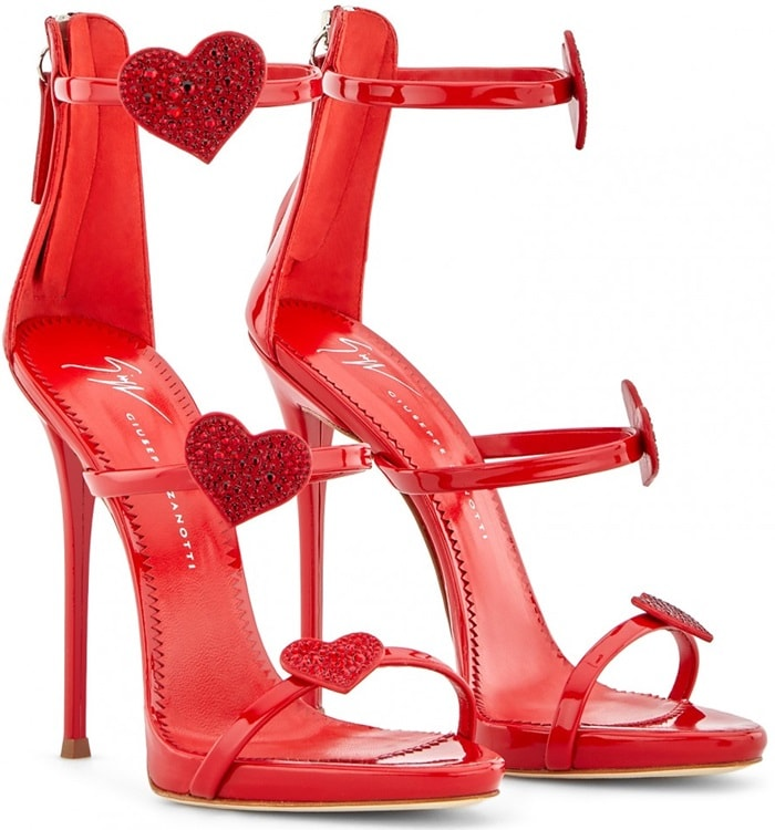 Poppy Red Patent Harmony Love Sandals