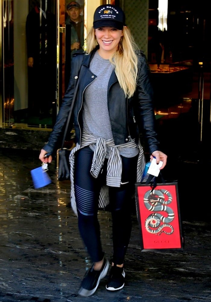 Hilary Duff spotted Christmas shopping at the Gucci store in Beverly Hills, California, on December 16, 2016