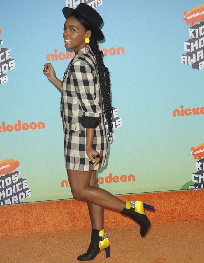 Janelle Monae has a good time at the 2019 Nickelodeon Kids' Choice Awards held at the Galen Center in Los Angeles on March 23, 2019