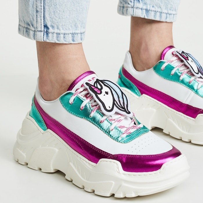 Chunky 90s Unicorn Sneakers From Irene Kim X Joshua Sanders Collaboration