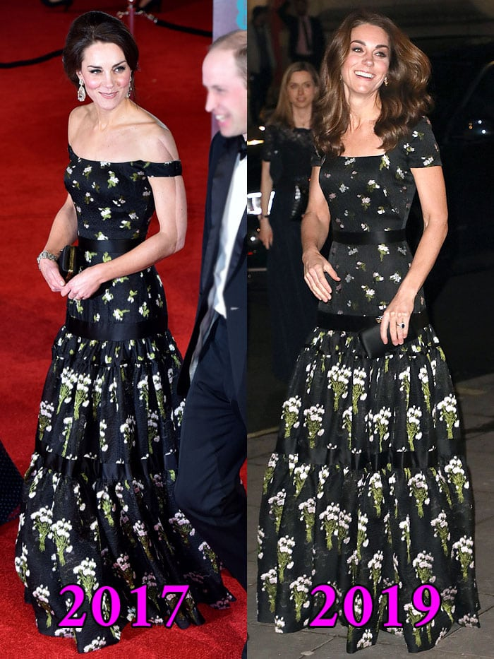 Kate Middleton wears the same dress in 2017 and 2019