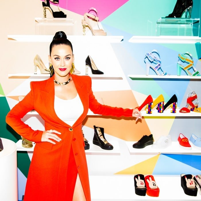 Roar hitmaker Katy Perry partnered with Global Brands Group to launch an exclusive shoe collection, which includes sandals, trainers, stilettos and pumps