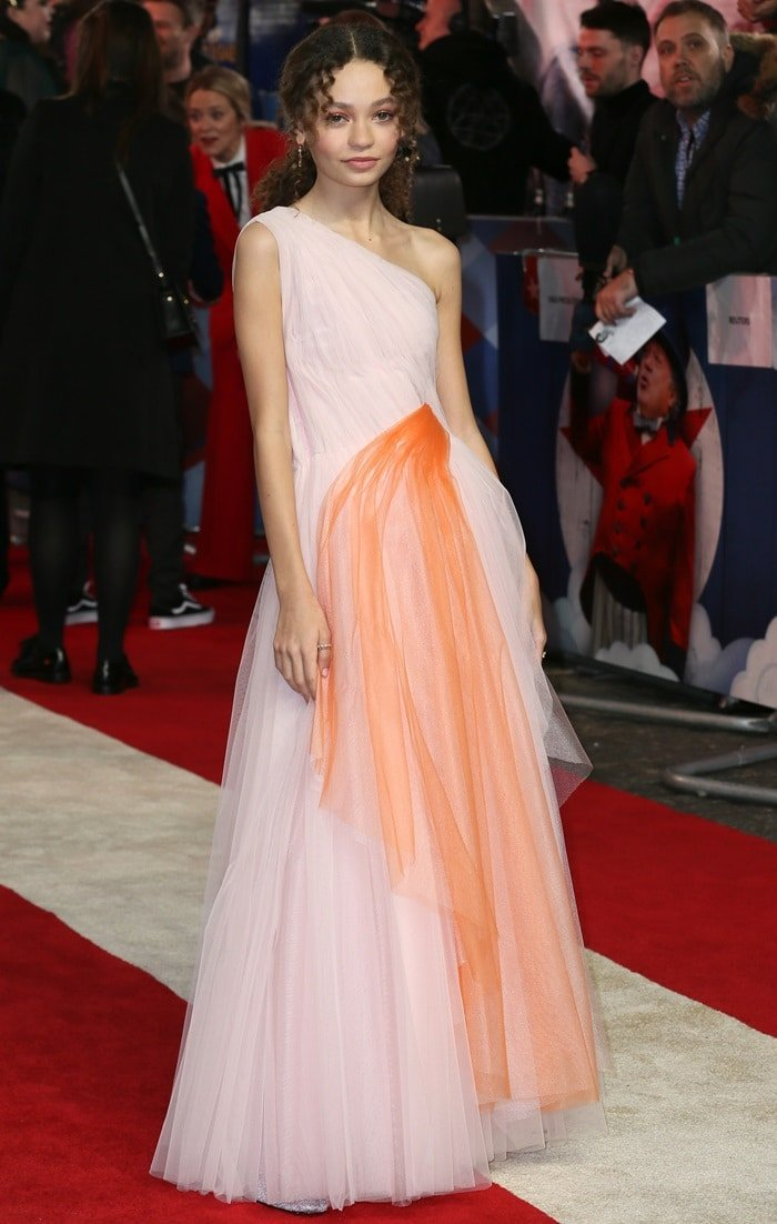 Nico Parker looked like a Disney princess in a pink and peach Carolina Herrera dress