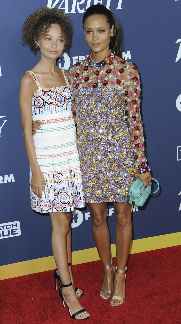 Nico Parker joined her mother Thandie Newton at the Variety's 2019 Power of Young Hollywood party
