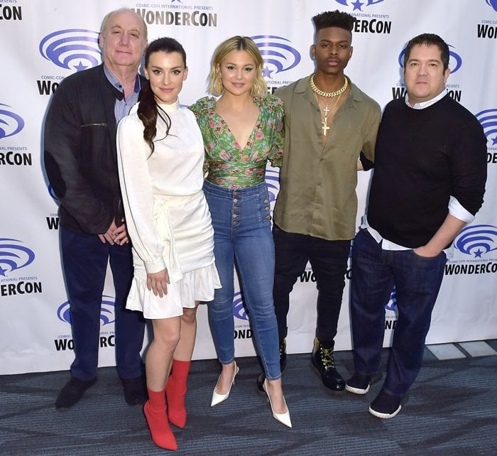 Jeph Loeb, Emma Lahana, Olivia Holt, Aubrey Joseph, Joe Pokaski represented their Freeform series Cloak & Dagger at 2019 WonderCon held at Anaheim Convention Center in Anaheim, California, on March 29, 2019
