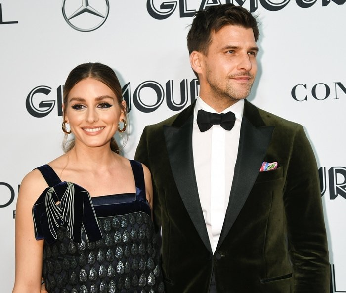 Olivia Palermo and her husband Johannes Huebl attend the 2019 Glamour Women Of The Year Awards
