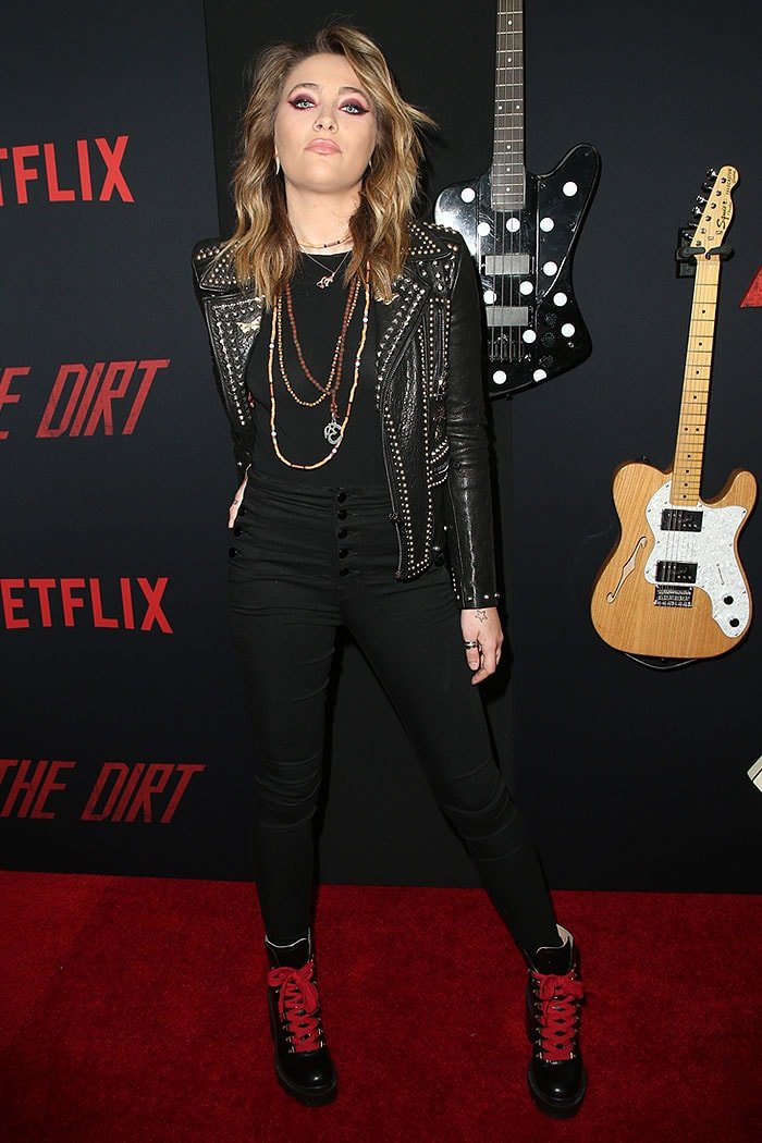 "Paris Jackson at Netflix's ""The Dirt"" film premiere at ArcLight Hollywood in Hollywood, California, on March 18, 2019"