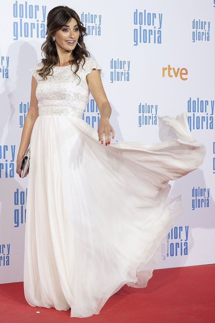 "Penelope Cruz at the ""Dolor y Gloria"" premiere held at Capitol Cinema in Madrid, Spain, on March 13, 2019"