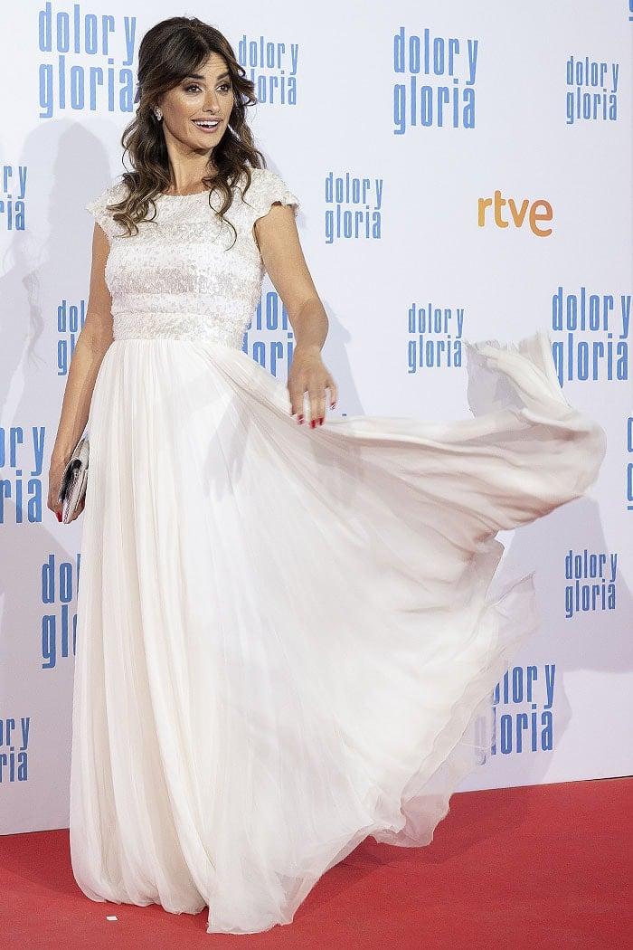 "Penelope Cruz at the ""Dolor y Gloria"" premiere held at Capitol Cinema in Madrid, Spain, on March 13, 2019"