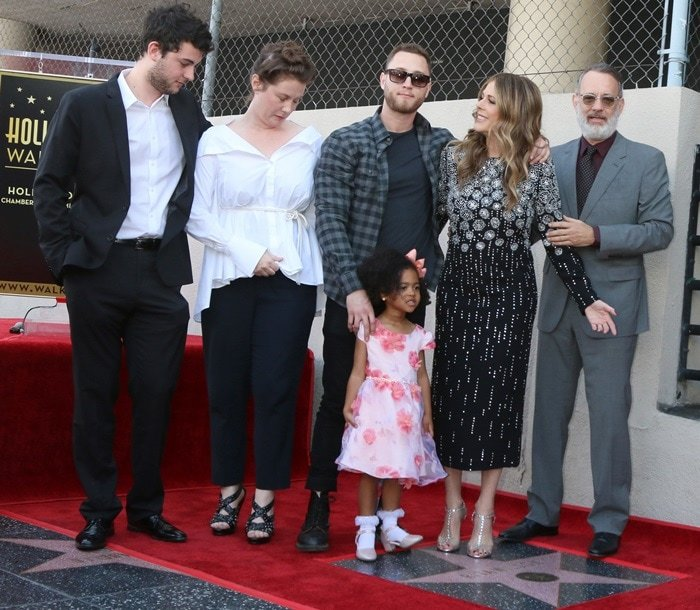 Rita Wilson receives a star with a ceremony on the Hollywood Walk of Fame on March 29, 2019