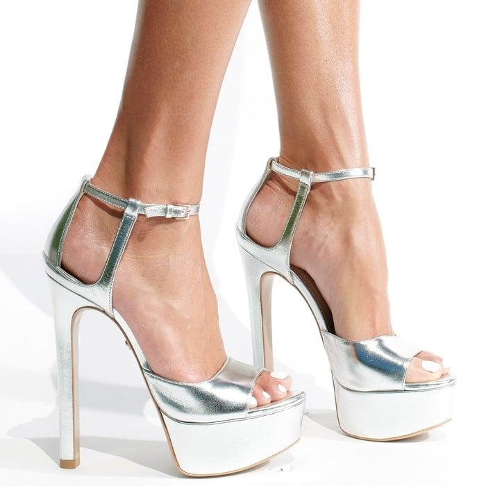 Silver Ruthie Davis Award Season Sandals
