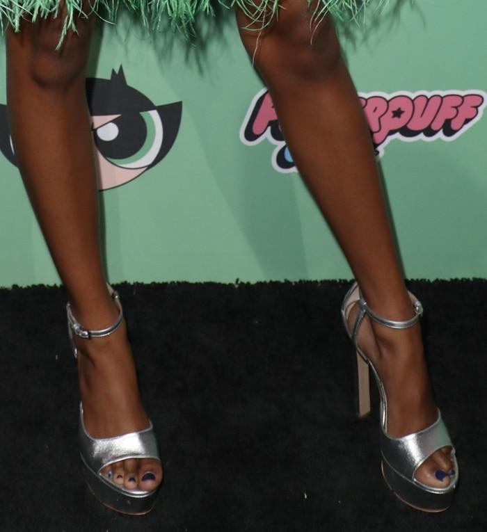 Skai Jackson showed off her toes in Ruthie Davis heels