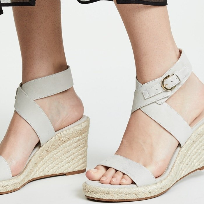 The Lexia wedges are equal parts laid-back and luxe with a classic woven jute sole
