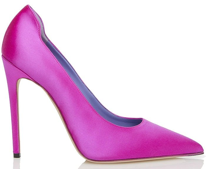 Victoria Beckham highlighter pumps pink satin