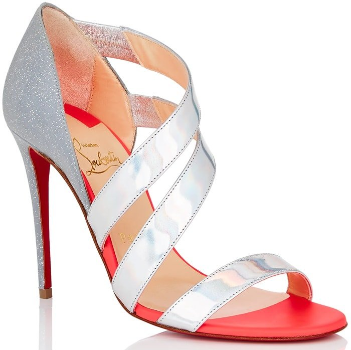 Neon Pink World Copine Red Sole Pumps