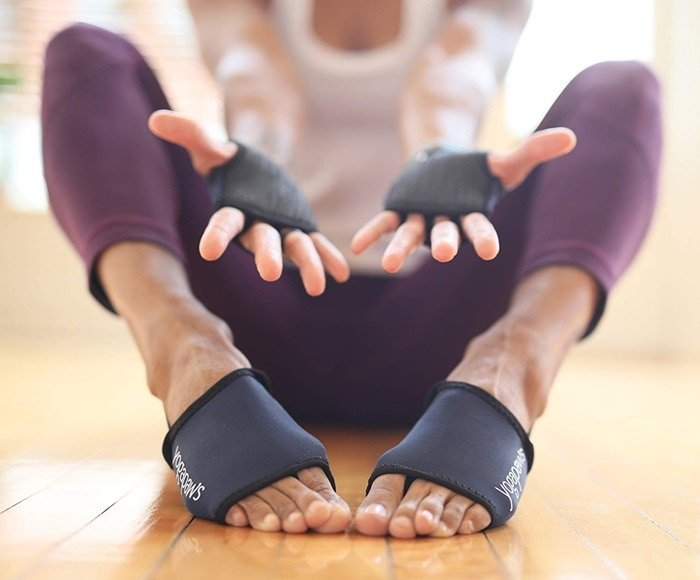 If you struggle with yoga shoe sizing, these YogaPaws socks are for you