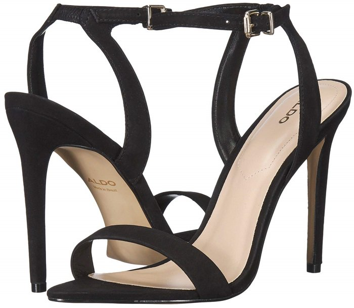 Black Nubuck Bravyan Pointed-Toe Stiletto Heels