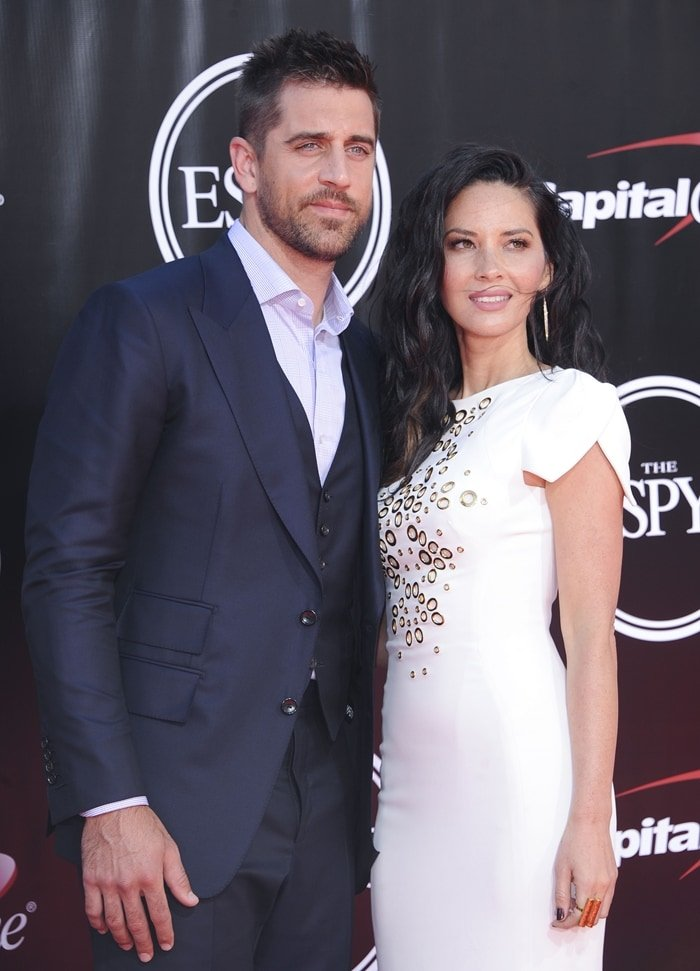 Actress Olivia Munn and her boyfriend NFL player Aaron Rodgers