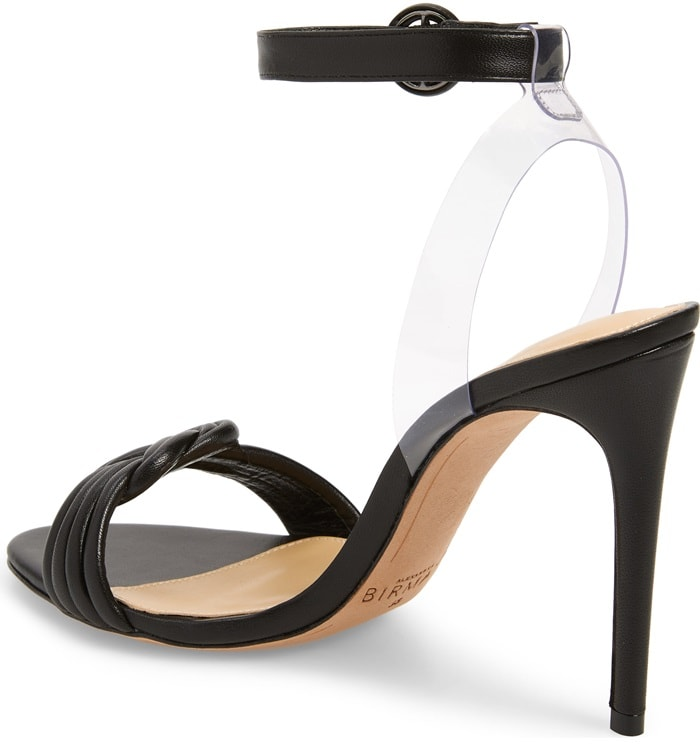 Black Vicky Vinyl and Leather Sandals