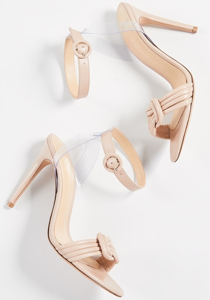Light Sand Vicky Vinyl and Leather Sandals
