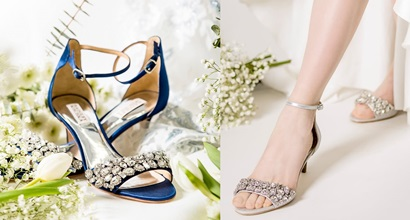 ecba6aecf22 Dazzling Lara Embellished Kitten-Heel Sandals in 4 Colors