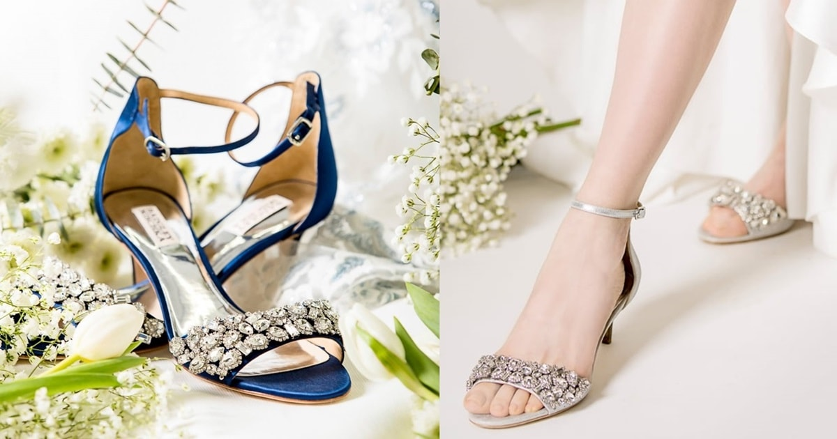 Dazzling Lara Embellished Kitten Heel Sandals In 4 Colors