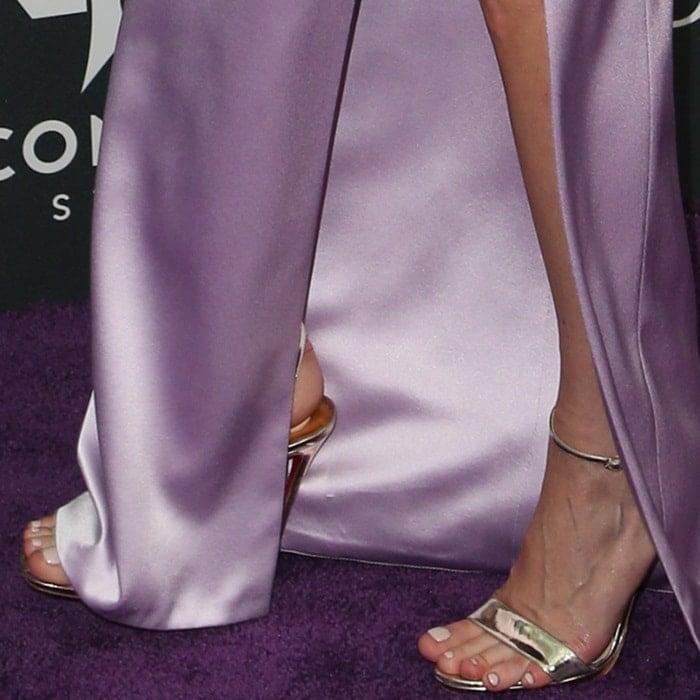 Brie Larson's feet in Christian Louboutin heels