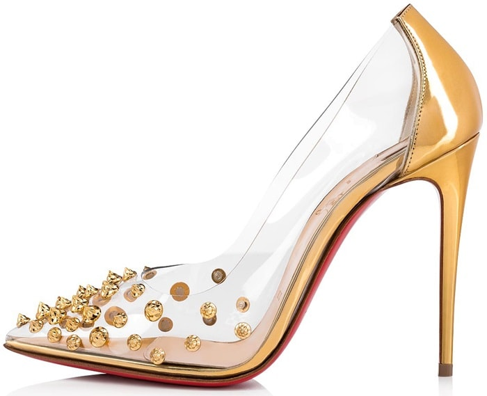 new style c7ce0 3f45c Collaclou Pumps With Signature Studs: Louboutin's '60s Homage
