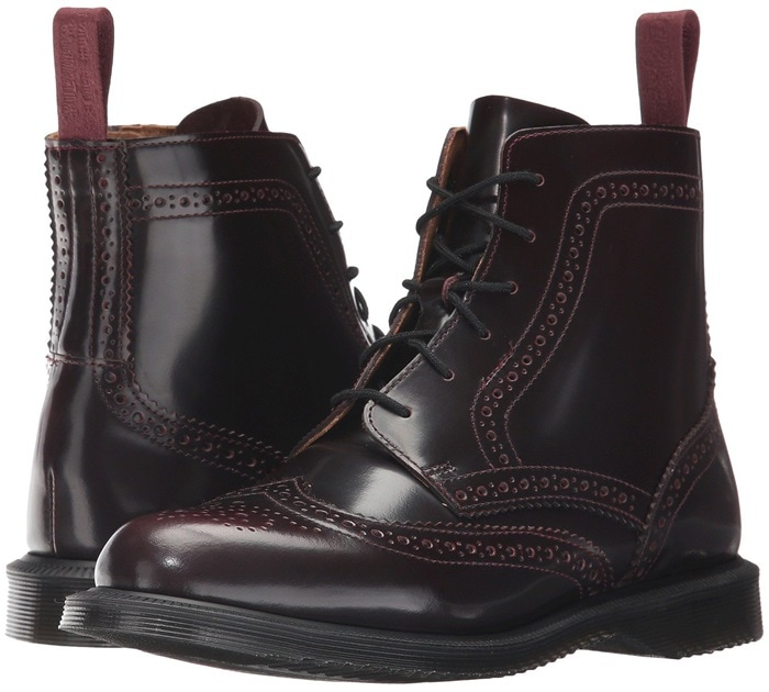Cherry Red Arcadia Delphine 6-Eye Brogue Boot