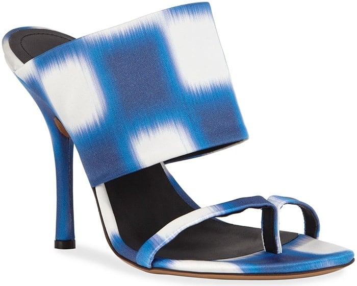 Dries Van Noten Checked Fabric Sandals