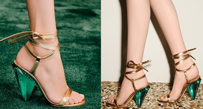 0a3813fe6 Palace Sandals by Gianvito Rossi With Emerald Green Cone Heels