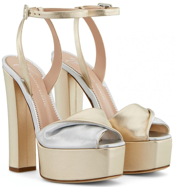 Giuseppe Zanotti Double Betty sandals gold and silver