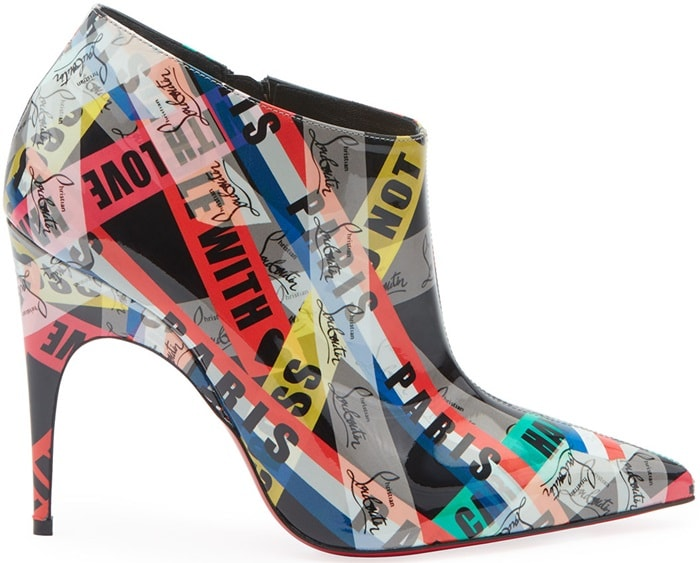 Gorgone Printed Patent Bootie