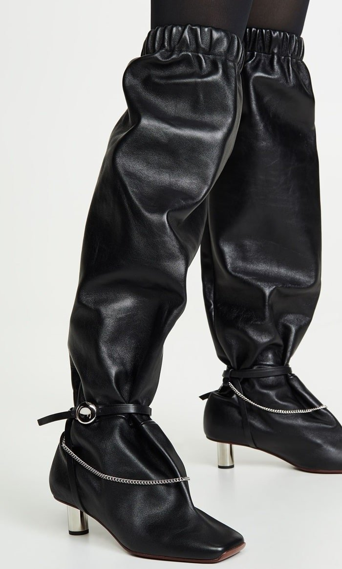 High Heeled Catfish Boots With Chains