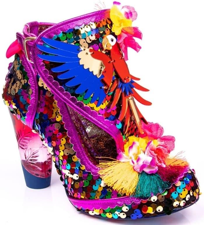 You will enter a tropical carnival when you slip into the Irregular Choice Bellisima