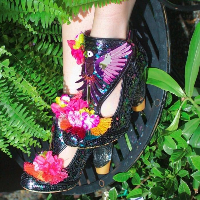 Irregular Choice Bellisima Sandals With Parrot