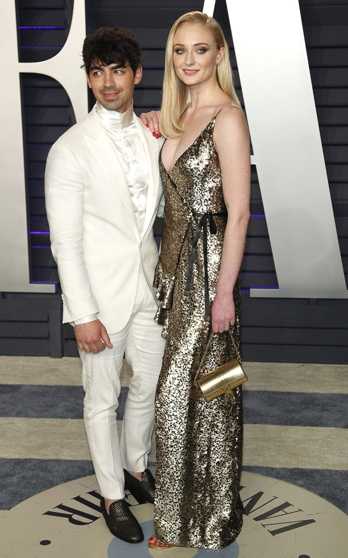Joe Jonas and Sophie Turner at the 2019 Vanity Fair Oscar Party at the Wallis Annenberg Center for the Performing Arts in Beverly Hills, California, on February 24, 2019