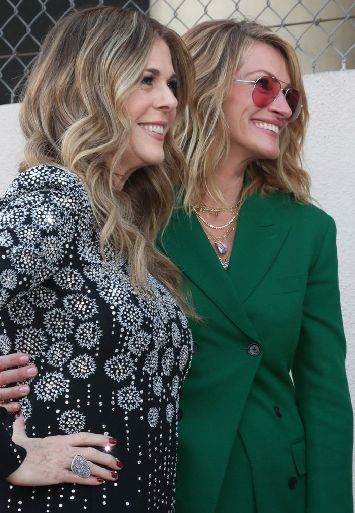 Julia Roberts celebrated Rita Wilson's star on the Hollywood Walk of Fame in Hollywood on March 29, 2019