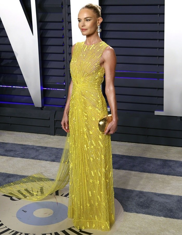 Kate Bosworth wearing a Cong Tri dress at the 2019 Vanity Fair Oscar Party at the Wallis Annenberg Center for the Performing Arts in Beverly Hills, California, on February 24, 2019