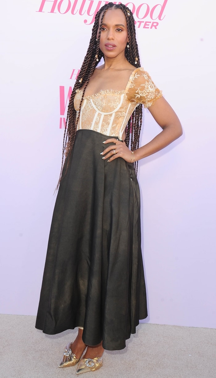 Kerry Washington shows off her new braids at The Hollywood Reporter's 2019 Women in Entertainment Gala