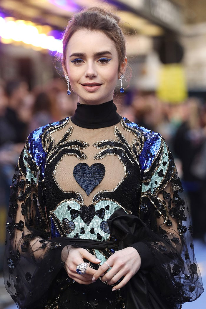 Lily Collins at the Extremely Wicked, Shockingly Evil and Vile European Premiere held at the Curzon Mayfair in London, England, on April 24, 2019