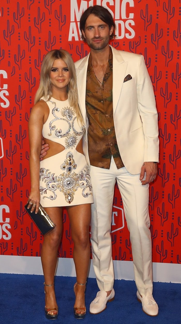 Maren Morris was joined by her husband, fellow singer Ryan Hurd at the 2019 CMT Music Awards