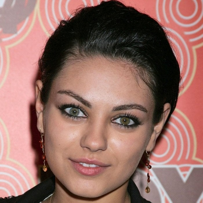 Mila Kunis has two different colored eyes