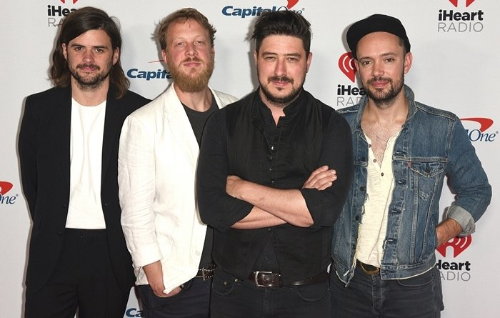 Ben Lovett, Marcus Mumford, Winston Marshall and Ted Dwane of Mumford & Sons