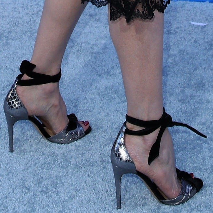 Nicole Kidman's hot feet in crystal-embellished Alexandre Birman Clarita heels