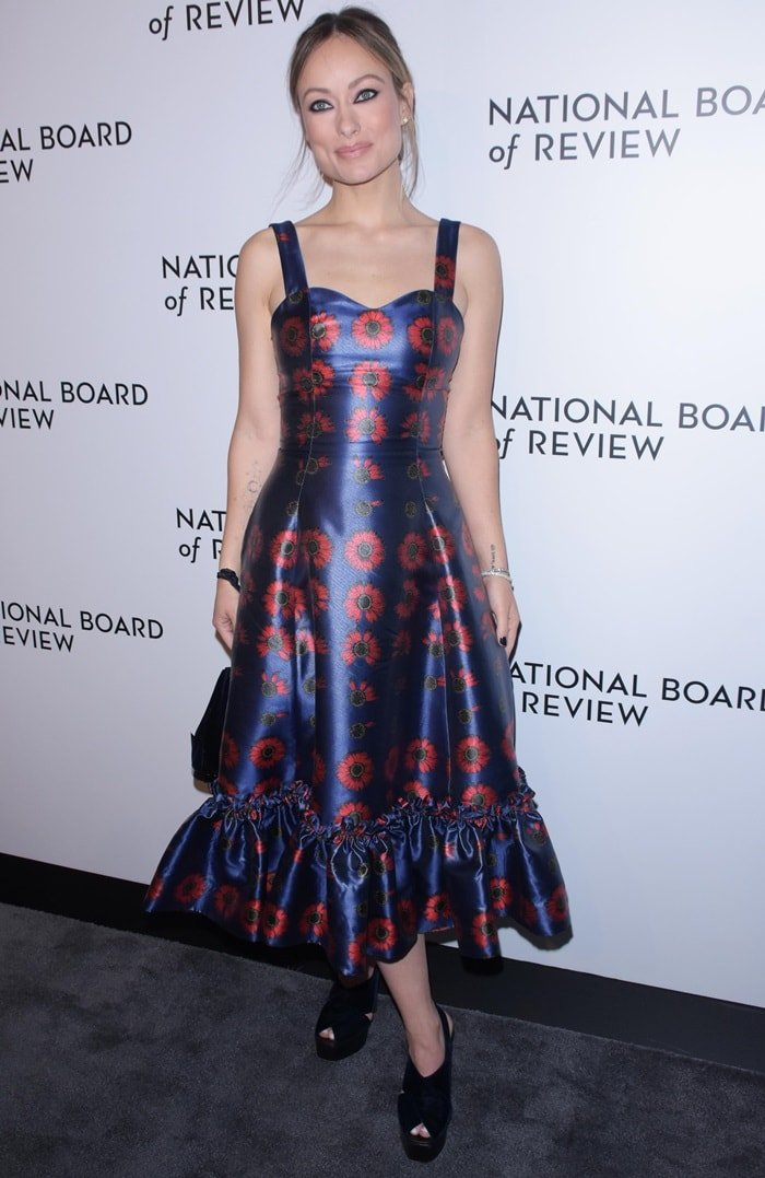Olivia Wilde flashed her legs at the National Board of Review Awards Gala at Cipriani in New York City on January 8, 2019